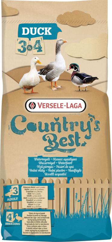 Duck 4 pellet Country's Best Granulé d'élevage 2mm pendant la ponte et l'élevage