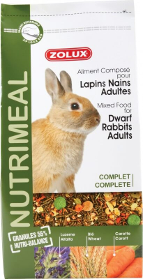 Alimentation lapin nain adulte Nutrimeal Standard