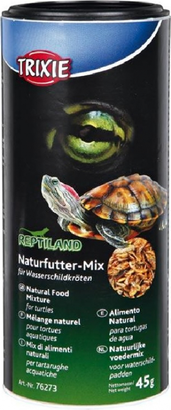 Mistura de alimentos naturais para tartarugas de água