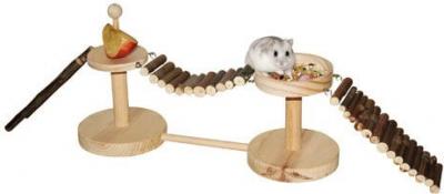 Espacio de juego y de alimentación nature para hamster