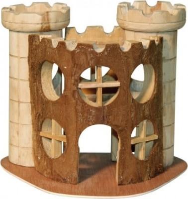 Schloss für Hamster aus Naturholz
