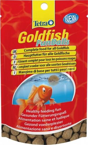 Tetra goldfish funballs nourriture en pastilles et comprim s for Goldfish nourriture