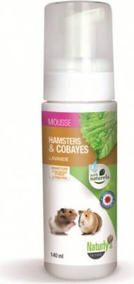 Shampoing sec sans rinçage - Mousse hamsters et cobayes