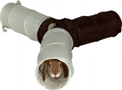 Túnel de juego con 4 entradas para conejo