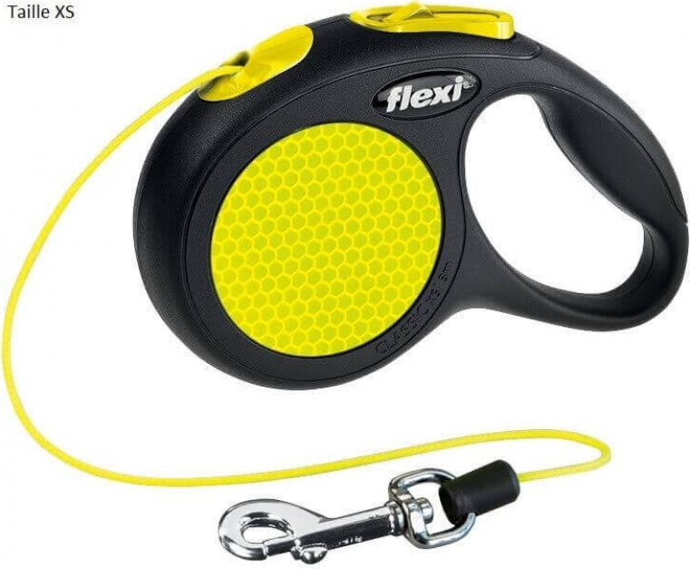 Flexi New CLASSIC Neon, laisse corde