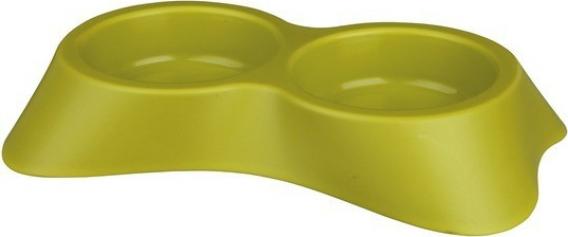 Ecuelle double en plastique design épuré