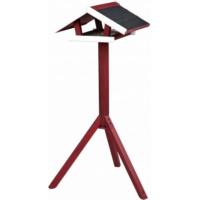 natura Mangeoire oiseau avec pied Rouge/Blanc