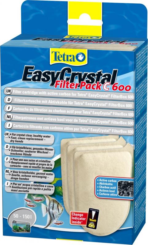 Cartucho de filtración con carbón activo Tetra EasyCrystal filterpack C 600