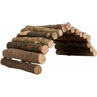 TYROL Grands Rondins de Bois, Jeu en Bois pour Rongeur et Lapin. Modulable en aire de jeux et Comestible. 65CM