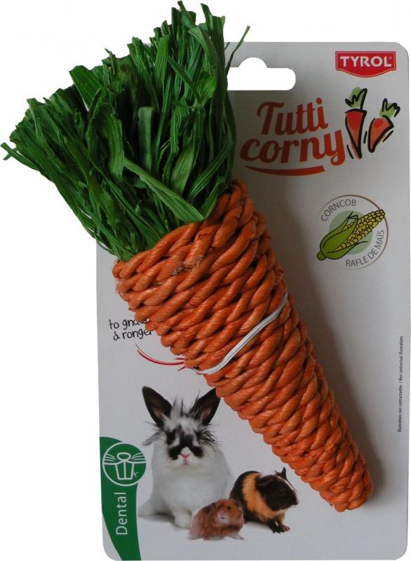 Tyrol Maxi carotte sonore à grignoter pour rongeurs et lapins