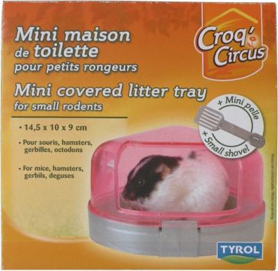 Mini maison de toilette + pelle pour petits rongeurs