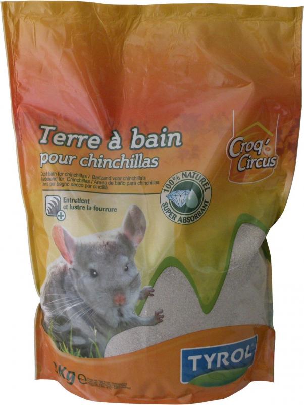 Tyrol Terre à bain pour chinchilla 100% naturelle