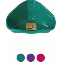 Toilette d'angolo per gabbia roditori - colori assortiti