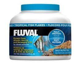 Flocons pour poissons exotiques fluval nourriture en flocons for Flocon poisson