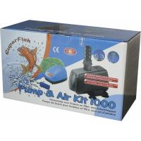 Bomba de estanque para fuente y filtro con kit de aireación
