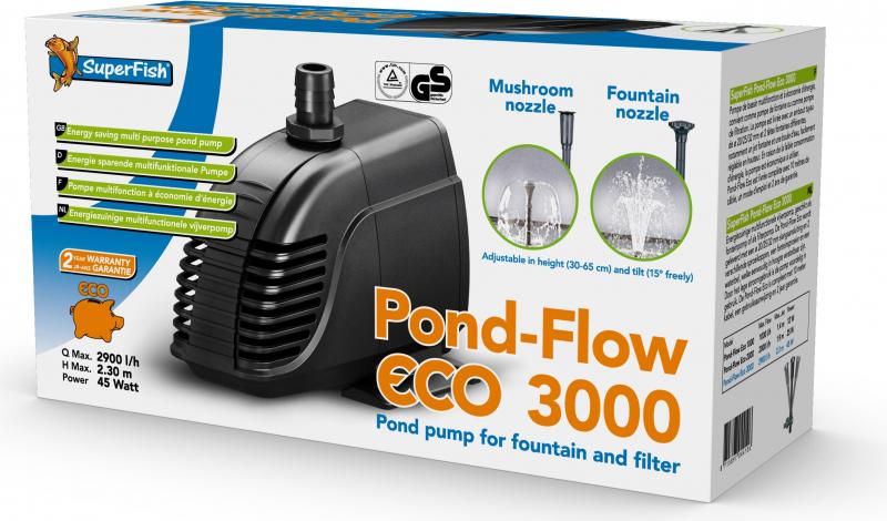 Bomba de estanque + filtro pequeño para fuente POND FLOW ECO