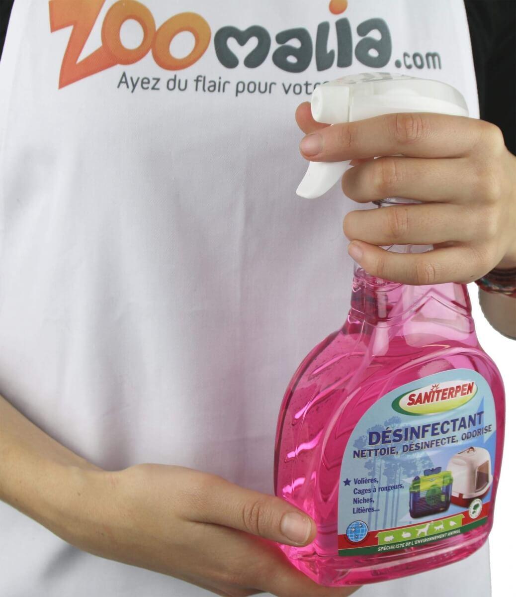 d sinfectant spray saniterpen 750 ml nettoyage odeurs chat. Black Bedroom Furniture Sets. Home Design Ideas