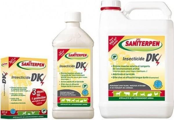 Insetticida DK Saniterpen - 3x60 ml, 1 ou 5 L.