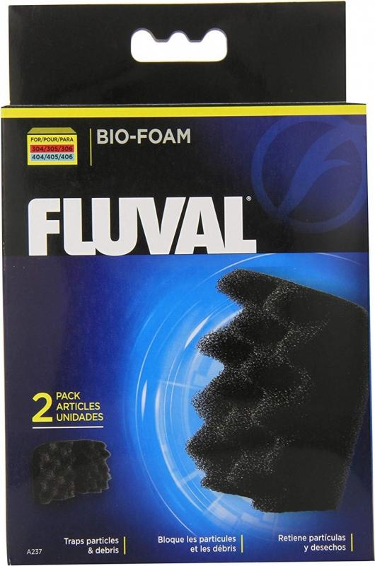 Blocs de mousse Bio-Foam Fluval, paquet de 2 pour filtres fluval 304, 305, 306, 404, 405 et 406