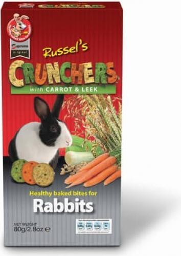 Biscuits Croustillants aux carottes et poireaux 80 grs lapin - Supreme Original