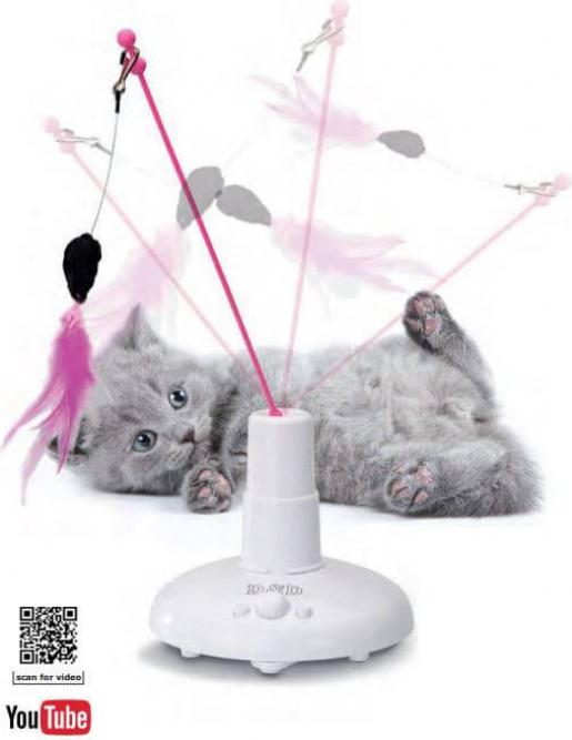 Jouet Electronique Chase 360° pour chat - ludique et favorisant l'agilité
