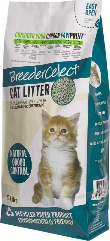 Gerecycled papier cat litter BreederCelect