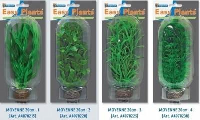 Plantas de plástico modelo mediano 20 cm (4 modelos)