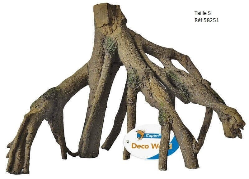 Resin mangrove root tree roots for Racine pour aquarium