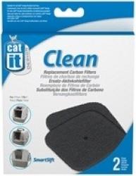 Kit 2 filtres a charbon pour maison de toilette Cat-It
