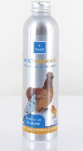 Multi vitaminas para aves y palomas 200 ml - Demavic