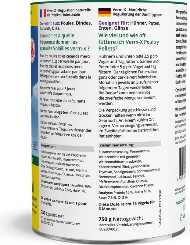 Verm-X granulés - Contrôle intestinal pour volailles- Demavic