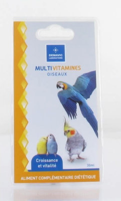 Multi-vitamines oiseaux - 30 ml - Demavic