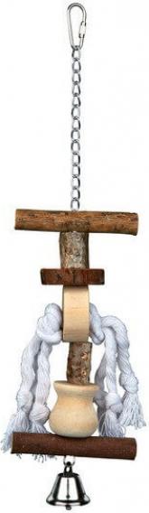 Natural living jouet en bois avec clochette - 2 tailles