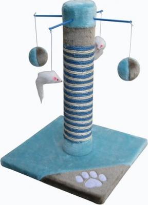 Kratzbaum in blau/grau