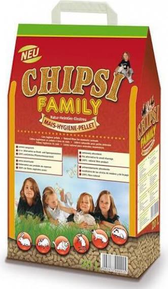 Litière Chipsi Family rafle de maïs pour petits animaux