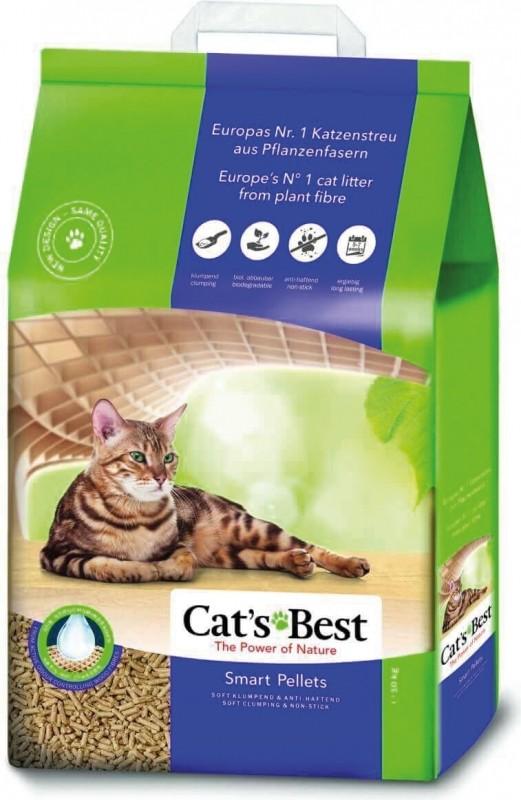 Litière végétale agglomérante Cat's Best Smart Pellets - Idéal pour les chats à poils longs