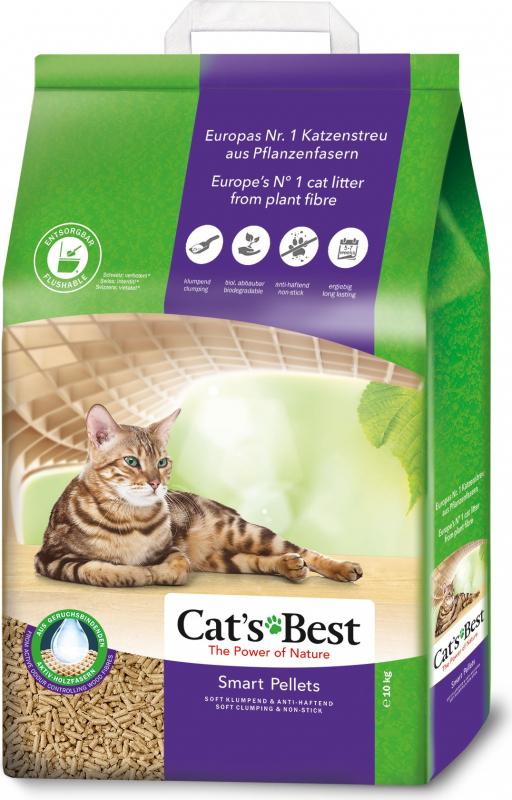 Plantaardige kattenbakvulling Cat's Best Smart Pellets - Ideaal voor langharige katten