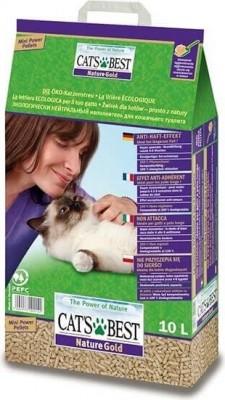 Litière végétale agglomérante Cat's Best Nature Gold - Idéal pour les chats à poils longs