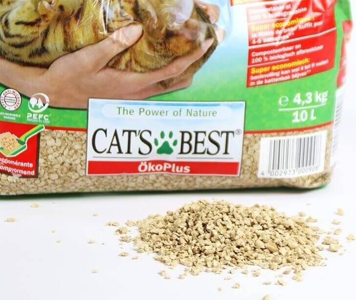 Litière naturelle agglomérante Cat's Best Original ÖkoPLus pour chat