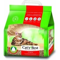 Litière naturelle agglomérante Cat's Best ÖkoPlus pour chat