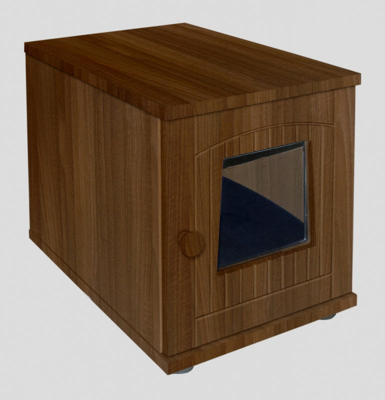 maison de toilette en bois pour chat. Black Bedroom Furniture Sets. Home Design Ideas