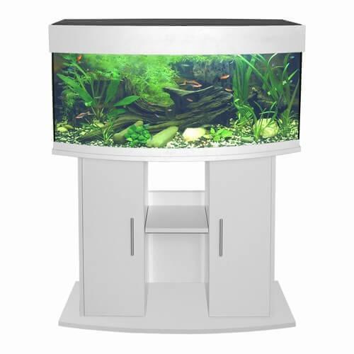 Aquarium ovale arctique blanc aquarium et meuble - Meuble tv ovale blanc ...
