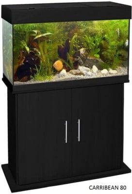Meuble pour aquarium CARRIBEAN noir