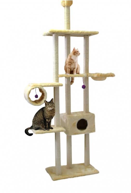 arbre chat family beige du sol au plafond arbre chat. Black Bedroom Furniture Sets. Home Design Ideas