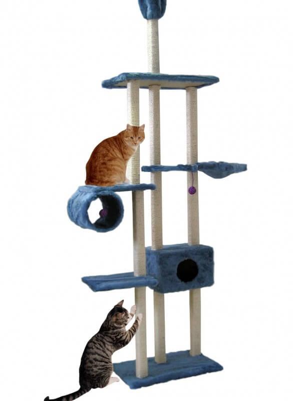 arbre chat family bleu du sol au plafond arbre chat. Black Bedroom Furniture Sets. Home Design Ideas
