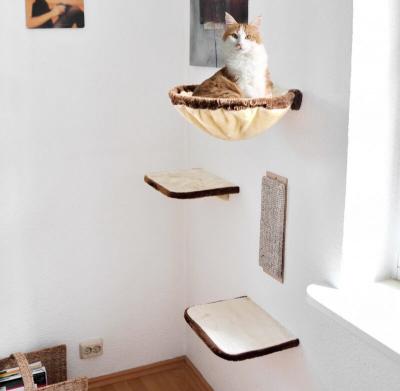 Árbol para gatos muro de escalar 4 piezas