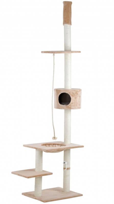 arbre chat de luxe beige du sol au plafond arbre chat. Black Bedroom Furniture Sets. Home Design Ideas