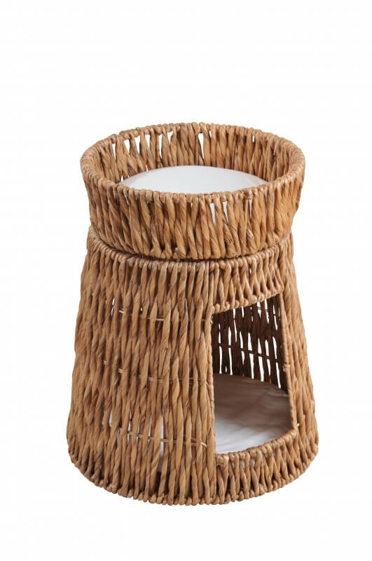panier pour chat en jacinthe d 39 eau naturel couchage chat. Black Bedroom Furniture Sets. Home Design Ideas
