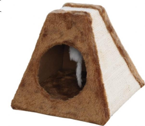 Kratzbaum-Pyramide Corie in beige/braun