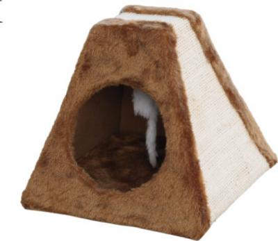 Griffoir pyramide Corie beige / brun